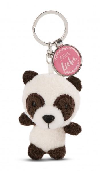 Schlüsselanhänger Panda mit Anhänger 'Alles Liebe'