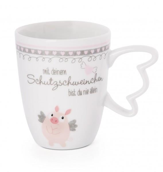 Tasse Schutzschweinchen