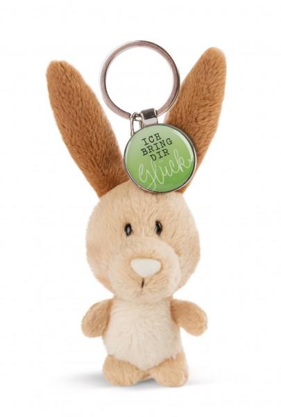 Schlüsselanhänger Hase mit Anhänger 'Ich bringe dir Glück'