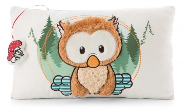 Rechteckiges Kissen Baby-Eule Owlino