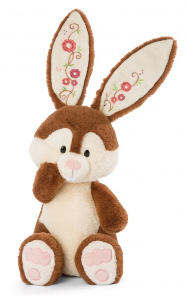 Cuddly toy Bunny Poline Bunny with flower embroidery