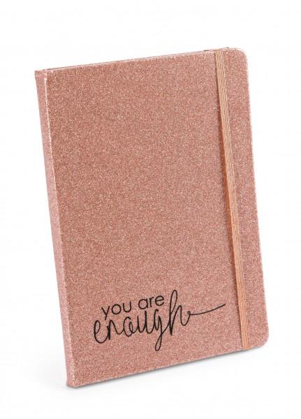 Hardcover Notizbuch metallic 'You are enough'