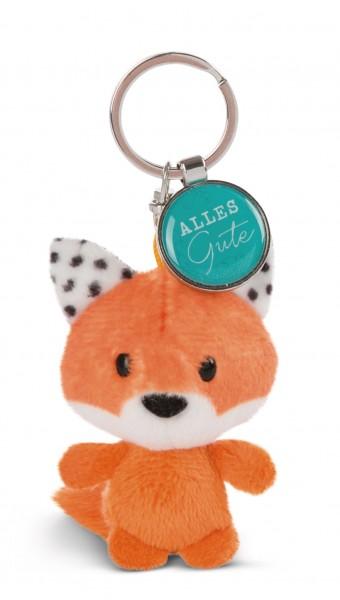 Schlüsselanhänger Fuchs mit Anhänger 'Alles Liebe'