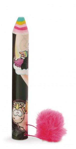 Radierstift Einhorn Rainbow Yin & Rainbow Yang mit Plüsch-Pompon