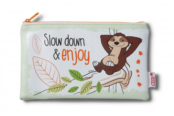 """Mäppchen Faultier """"Slow down and enjoy"""""""
