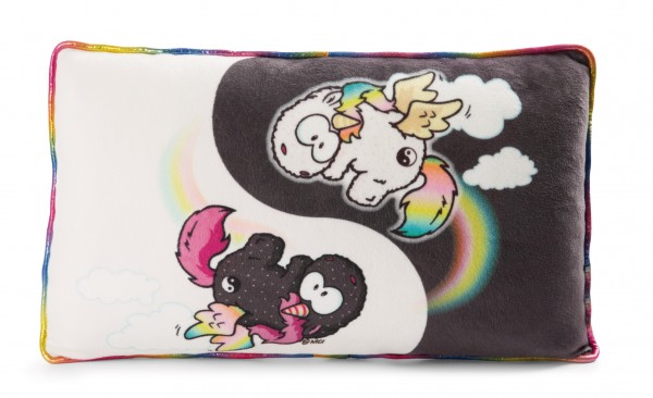 Rectangular Cushion Unicorn Rainbow Yin & Rainbow Yang