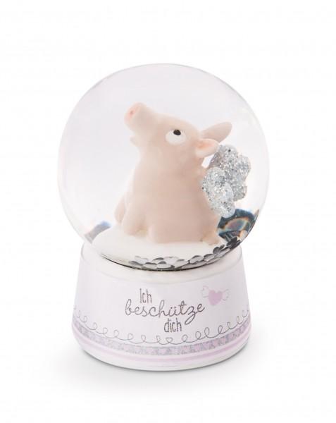 Glitter Globe ''Guardian Piggy'' in Display