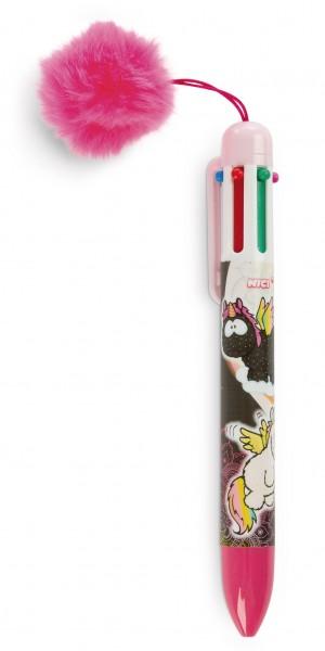 Mehrfarbkugelschreiber Einhorn Rainbow Yin & Rainbow Yang mit Plüsch-Pompon