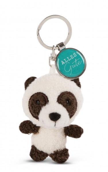 Schlüsselanhänger Panda mit Anhänger 'Alles Gute'