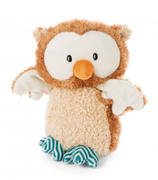 Stehendes Kuscheltier Baby-Eule Owlino mit drehbarem Kopf