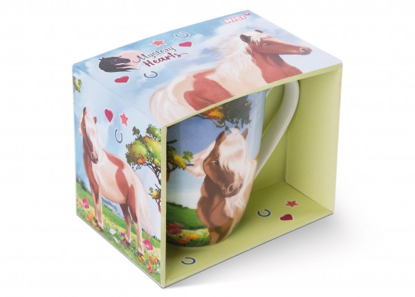Porcelain mug pony Lorenzo in gift box