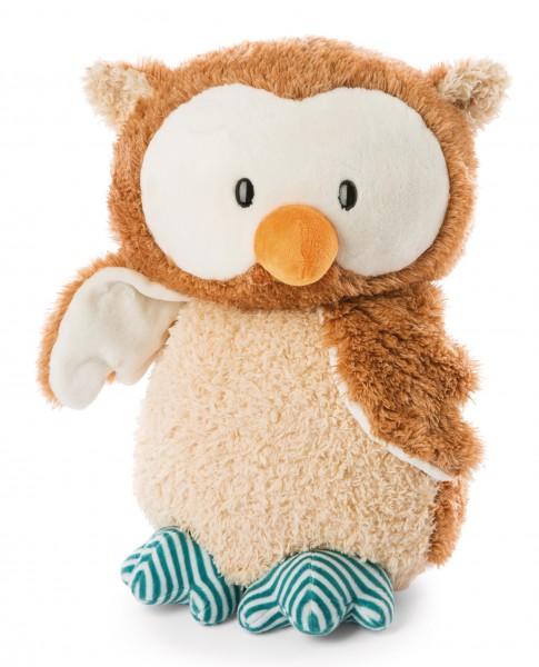 Stehendes Kuscheltier Baby-Eule Owlino ohne drehbaren Kopf