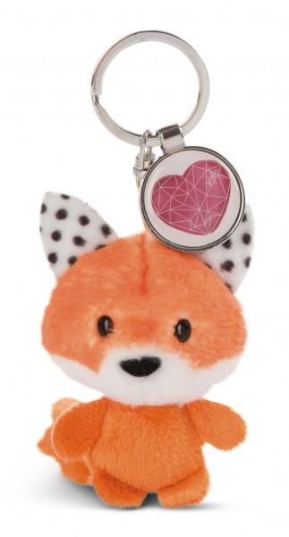 Schlüsselanhänger Fuchs mit Anhänger 'Herz'